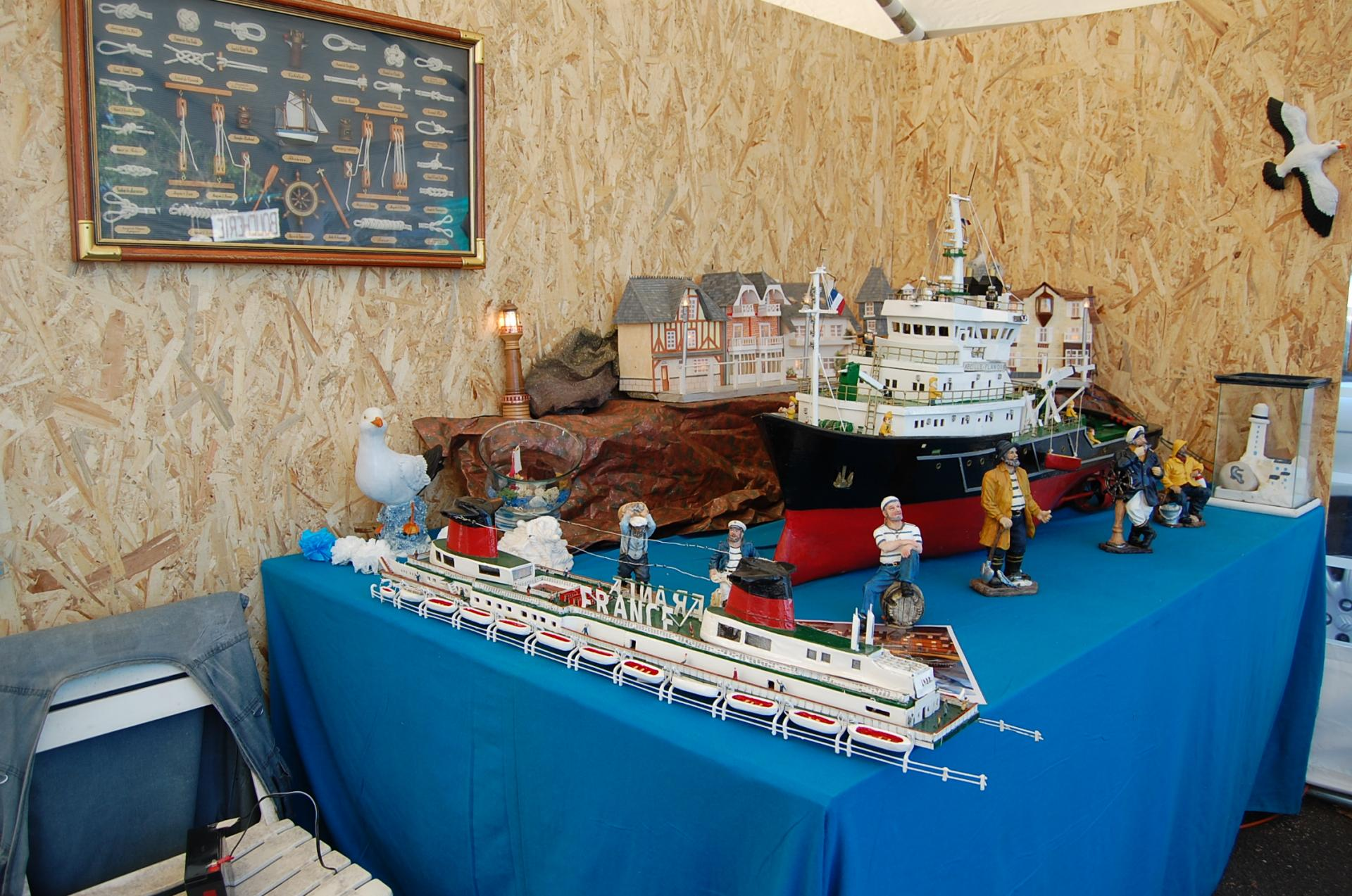 Et ... les maquettes de bateaux